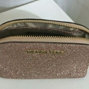 79f1b58608f9 Michael Kors Bags - Michael Kors Rose Gold Alex Glitter Makeup Bag